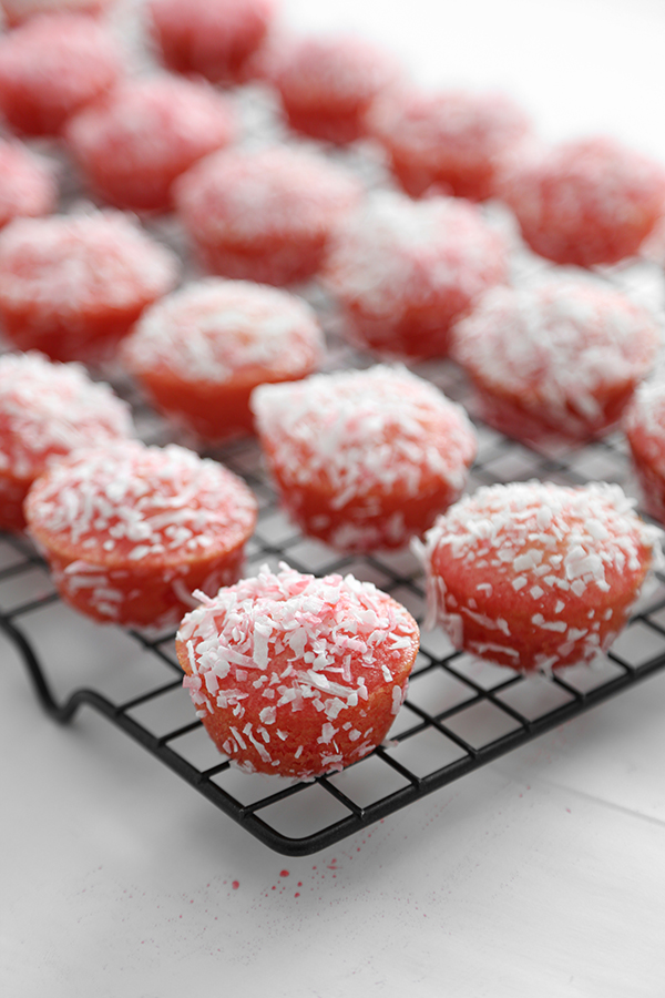 Pink Snowball Cakelettes