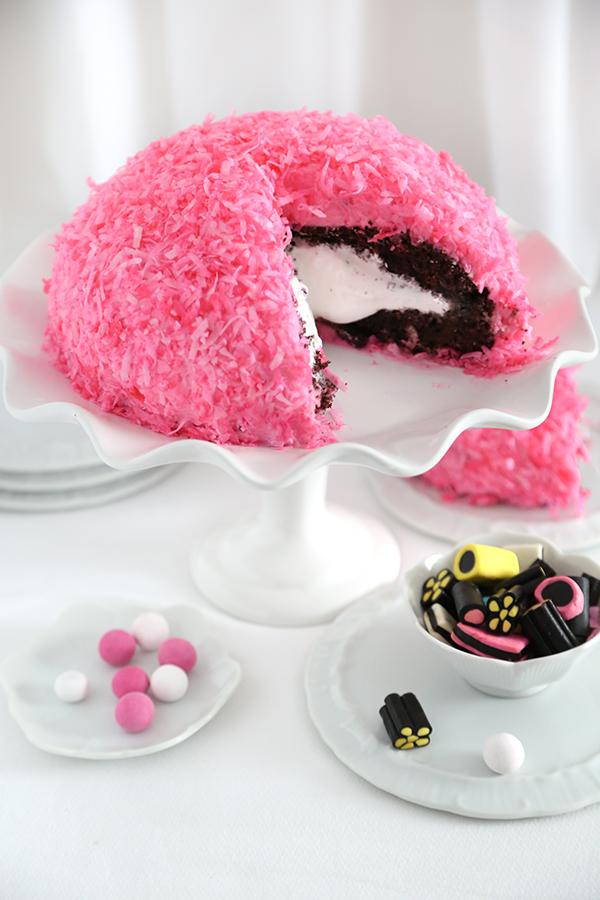 Pink Snowball Cake