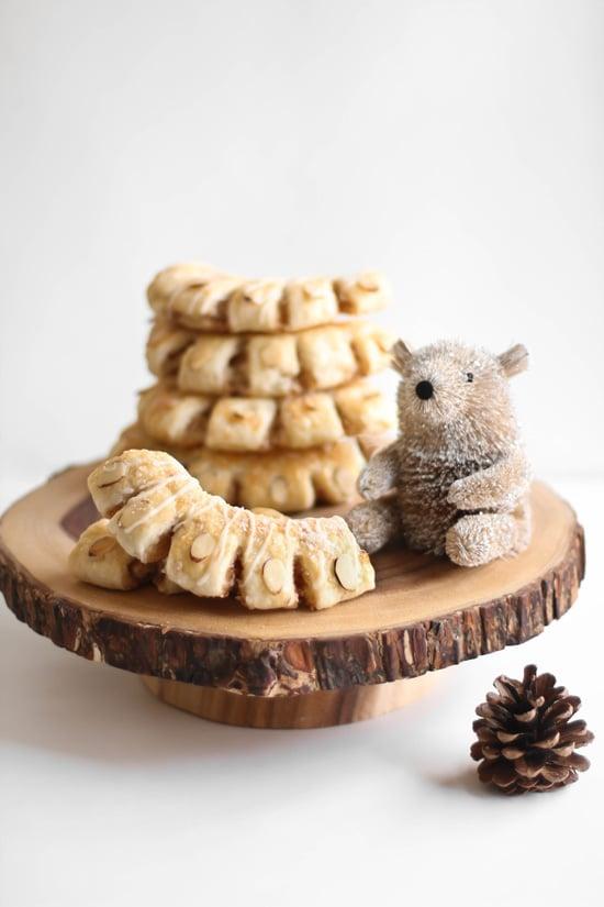 Cinnamon Bear Claws with Milk and Honey Glaze