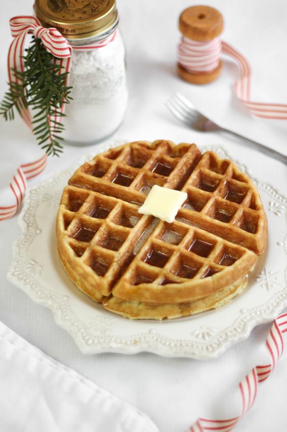 Cabin Waffles (DIY Waffle Mix)