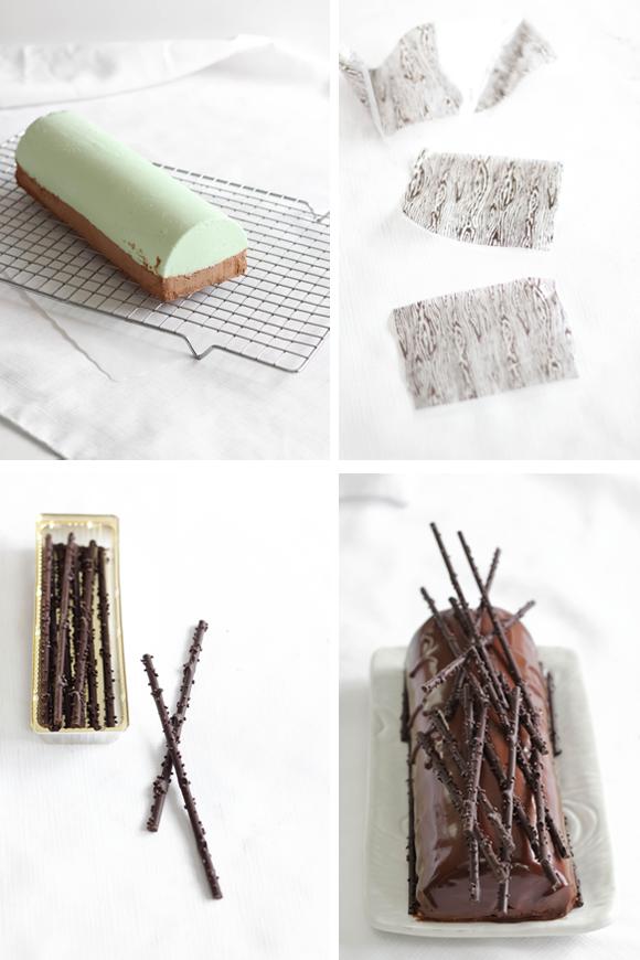 Mint Chocolate Cheesecake Bûche de Noël