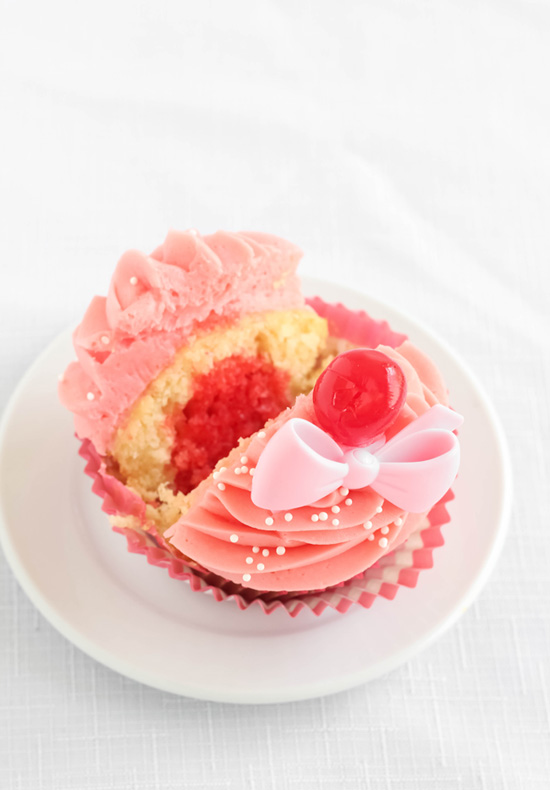 Shirley Temple Cocktail Cupcakes