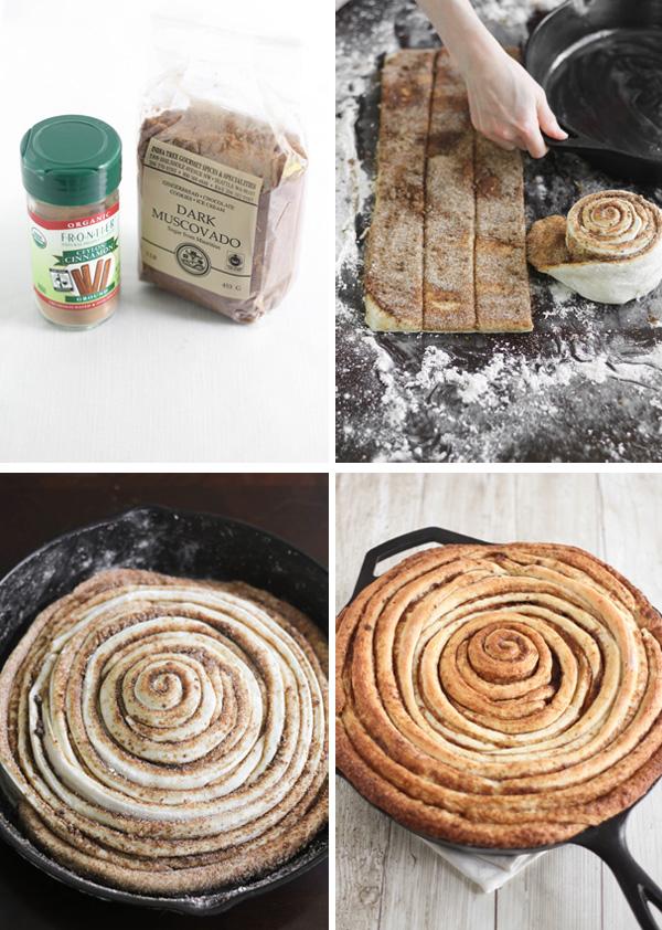 Giant Skillet Cinnamon Roll
