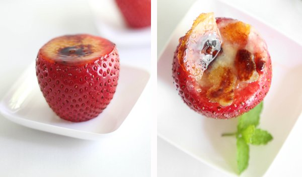 Crème Brûlée Filled Strawberries