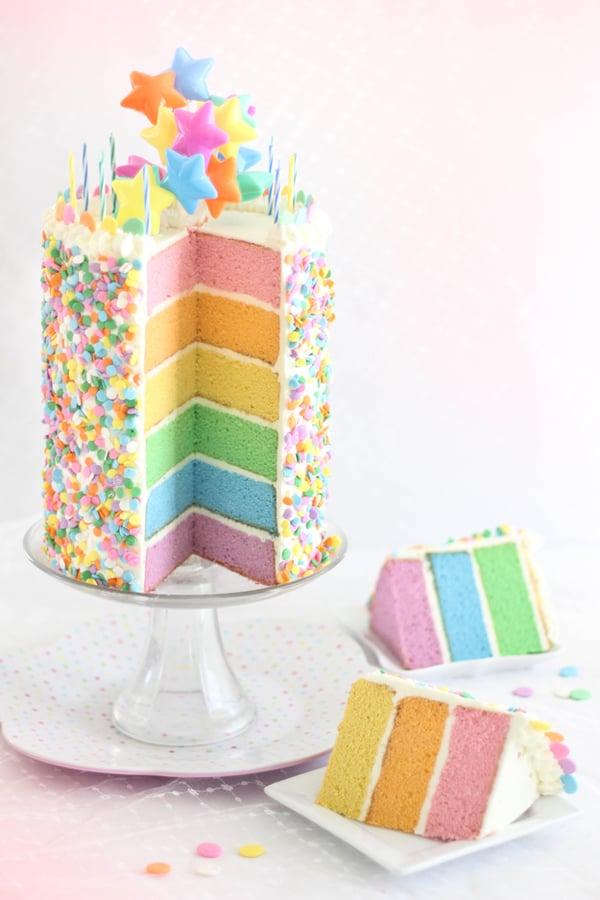 Pastel Layer Cake with Swiss Meringue Buttercream