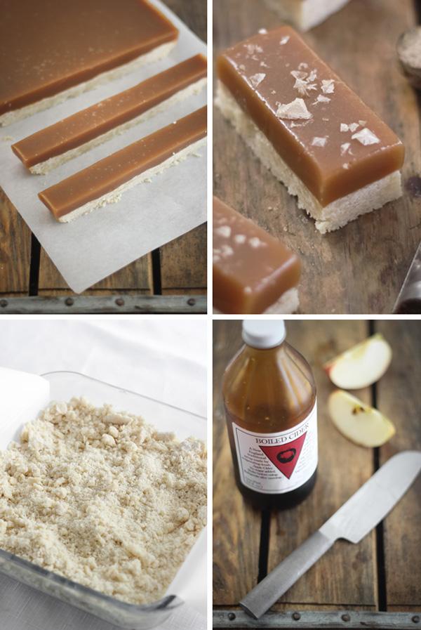 Apple Cider Caramel Bars with Smoked Maldon Salt