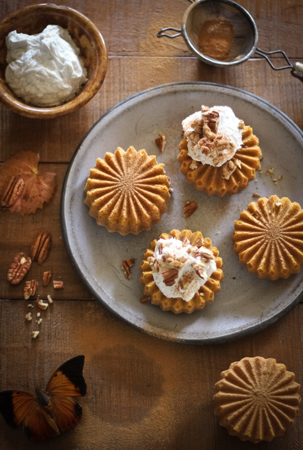 Dairy-Free Pumpkin Cakelettes with Coconut Whipped Cream