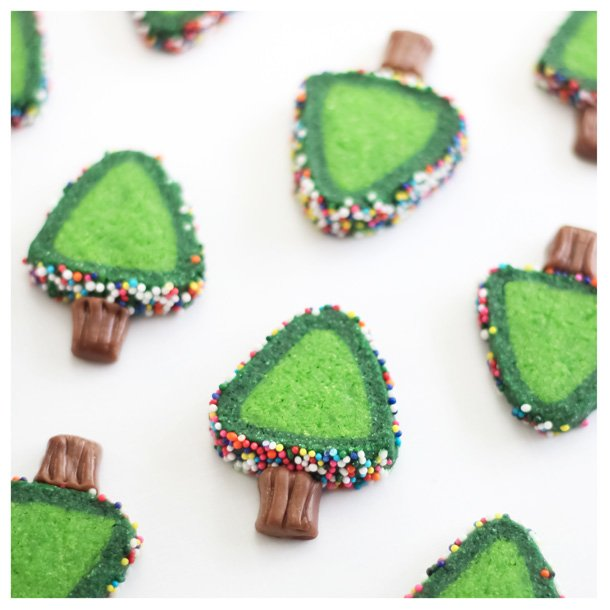 Sprinkle Christmas Tree Cookies