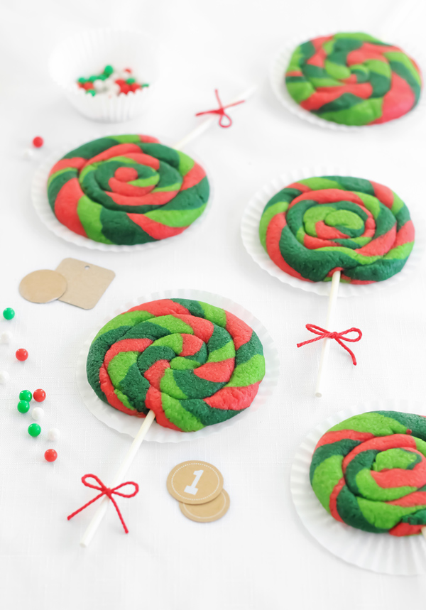 Lollipop Sugar Cookies