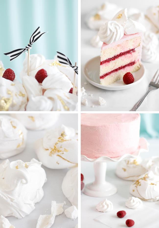 Raspberry Rose Water Layer Cake