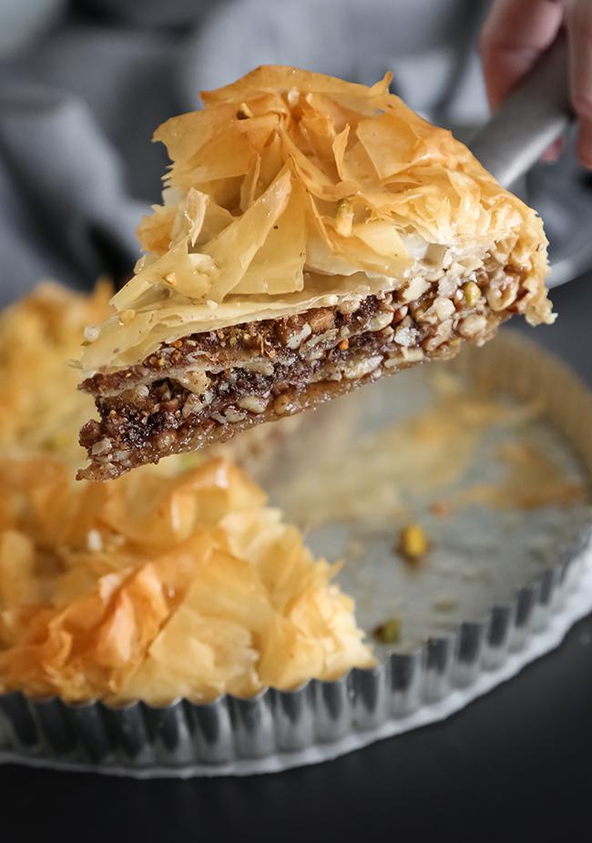 Salted Greek Honey Nut Pie