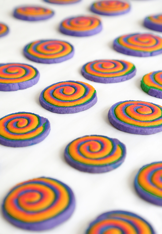 Rainbow Spiral Cookies