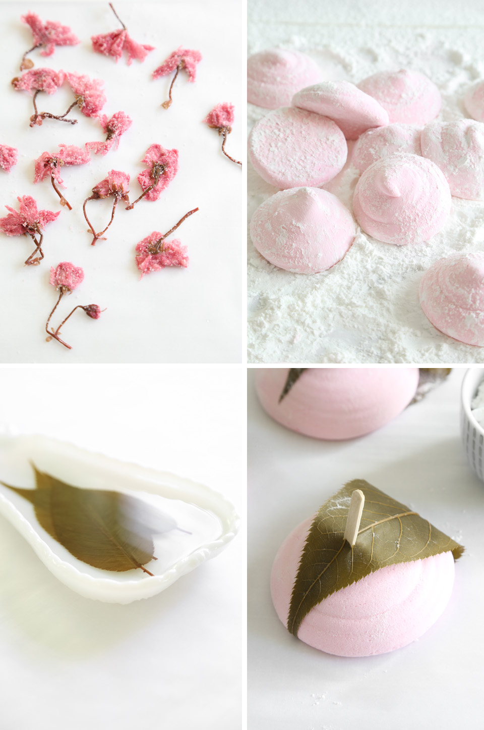 Strawberry-Sakura Marshmallows