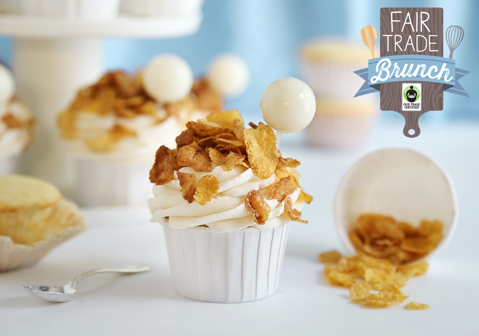 Toasted Corn Flakes Cupcakes with Cereal Milk Pipettes