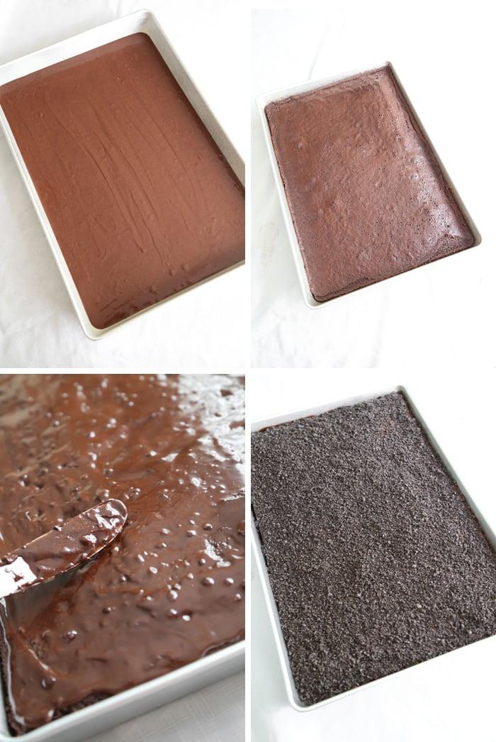 Dinosaur Dig Triple Chocolate Sheet Cake