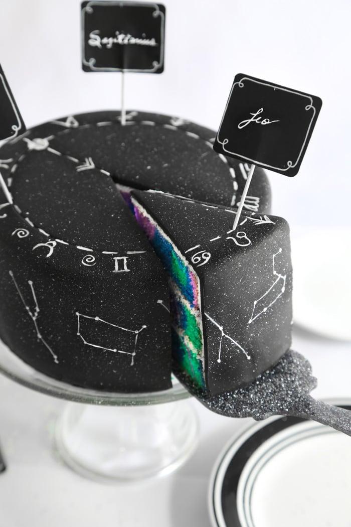 Zodiac Constellation Cake