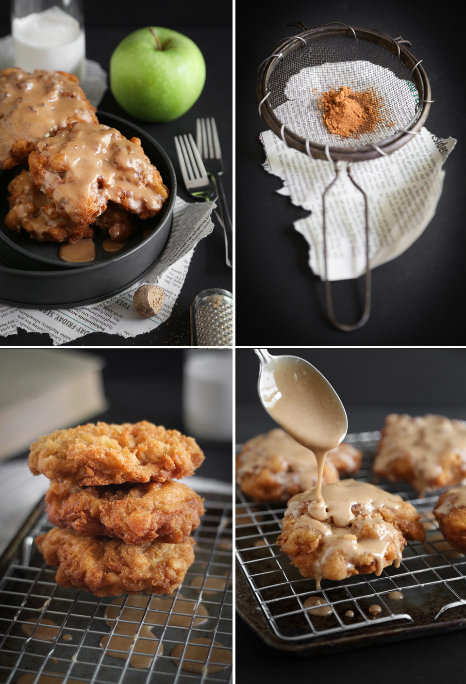 Homemade Ugly Apple Fritters