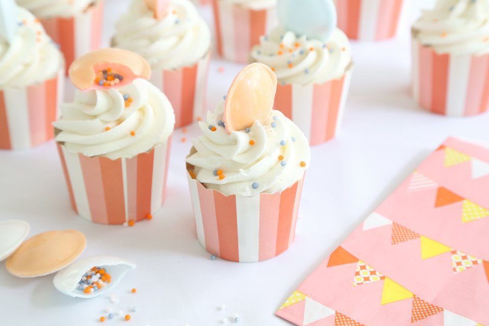 Peachy Orange Marmalade Cupcakes