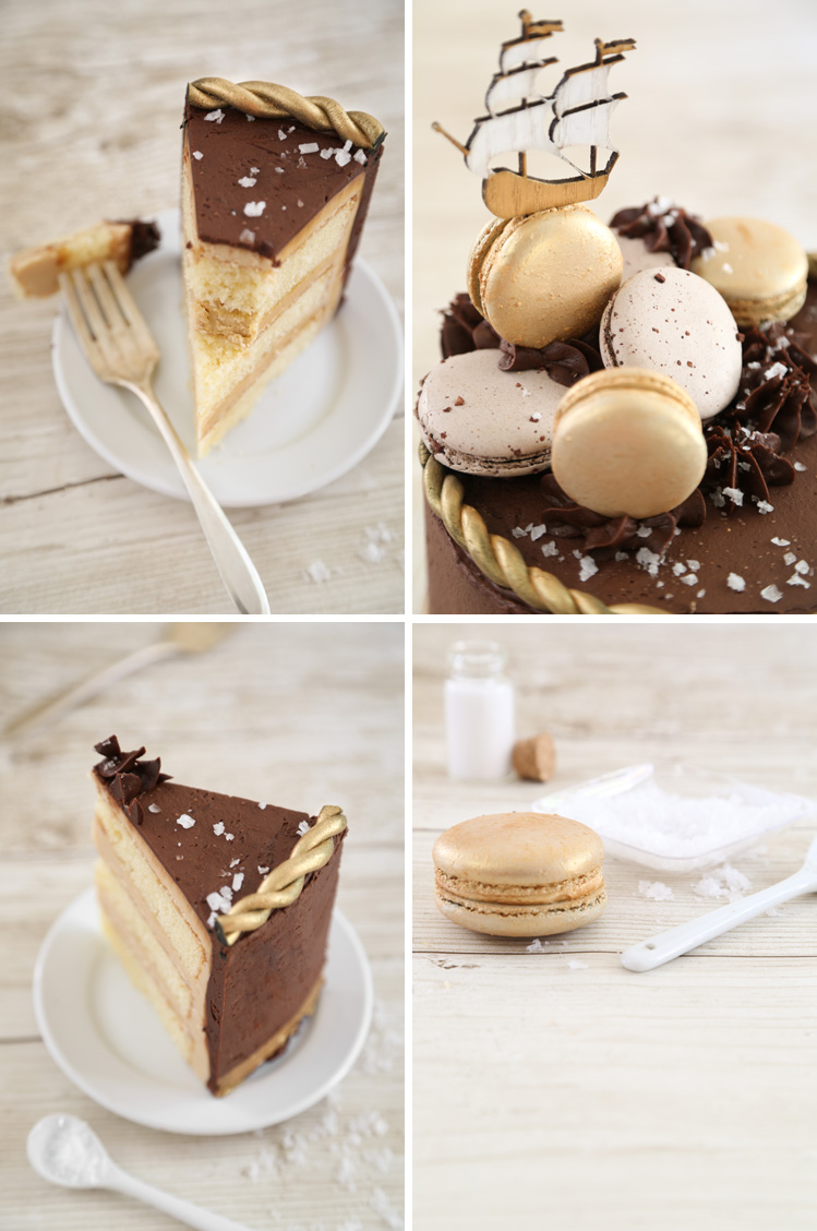 Double Frosted Salted Caramel Mocha Cake