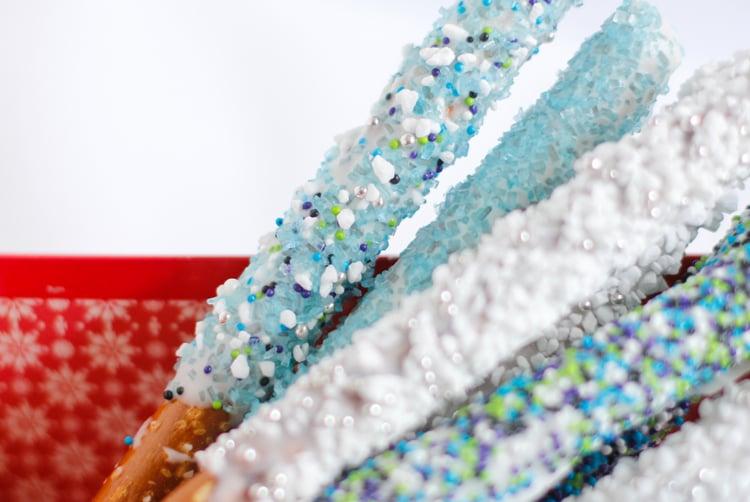 Glittering Pretzel Wands