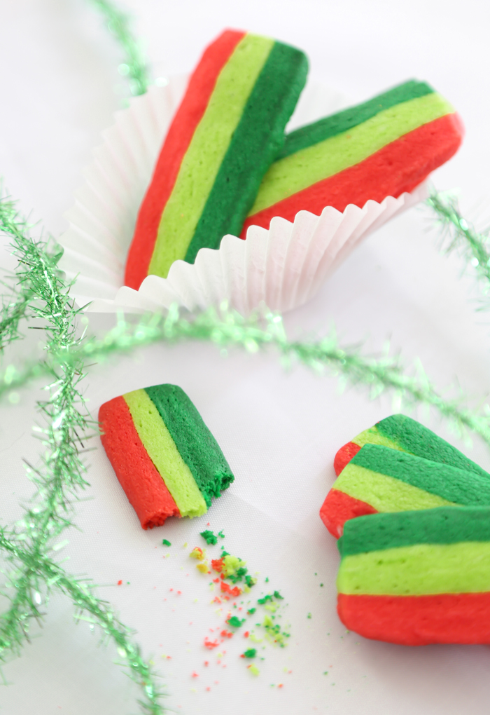 Tricolor Christmas Slices