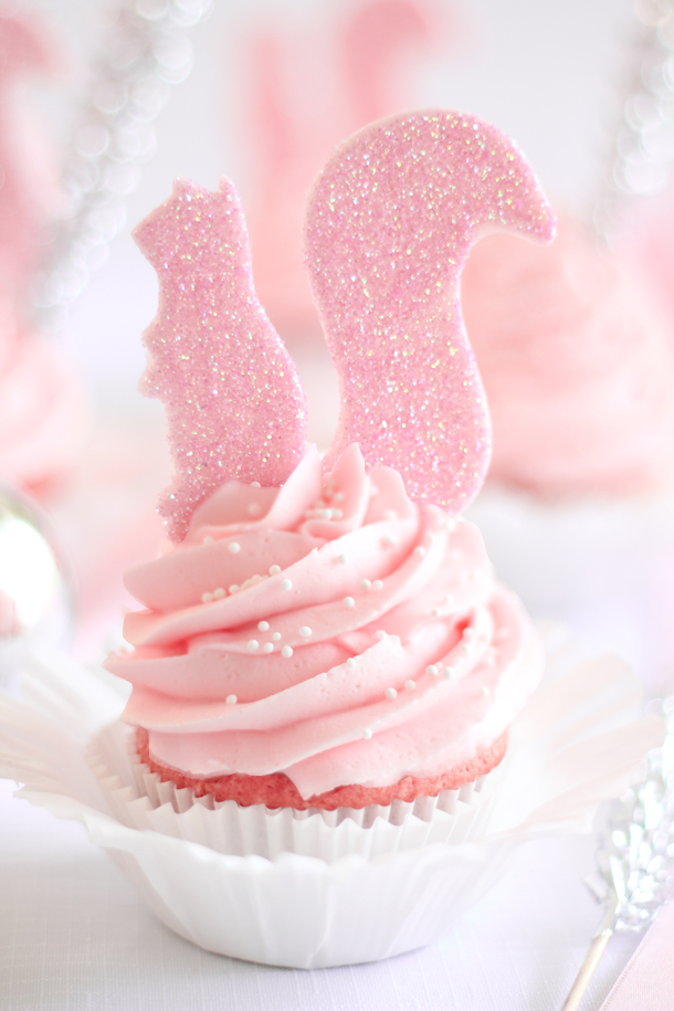 Pink Squirrel Cocktail-Inspired Cupcakes