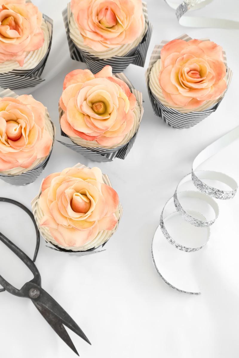 A Dozen Rose Cupcakes