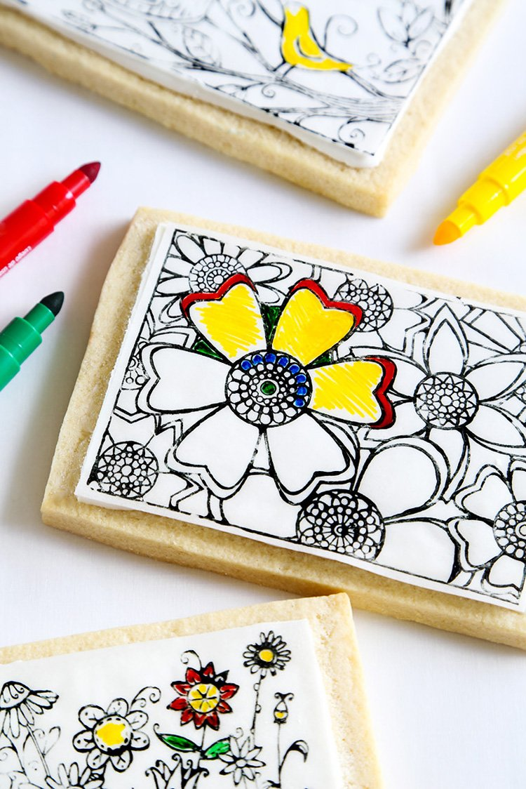 Coloring Book Cookies