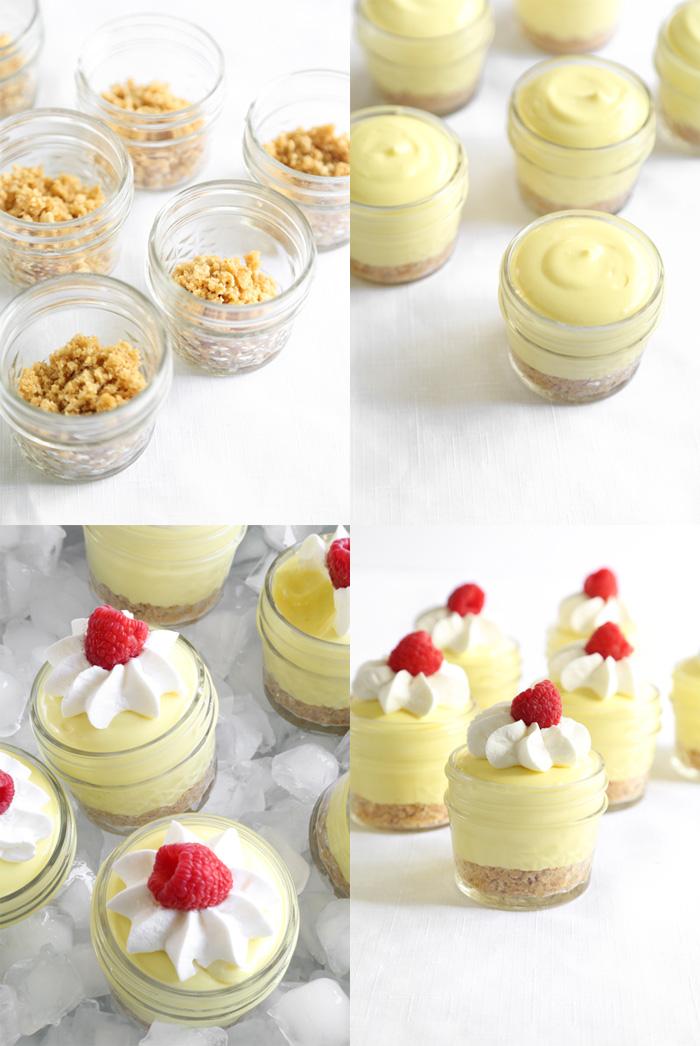 Lemon Icebox Pies in Jars