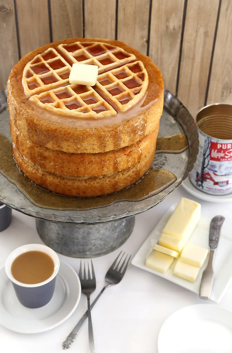 Maple Belgian Waffle Cake