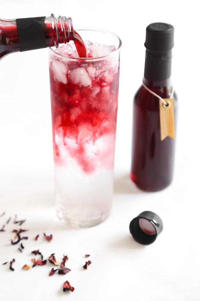 Homemade Hibiscus Syrup