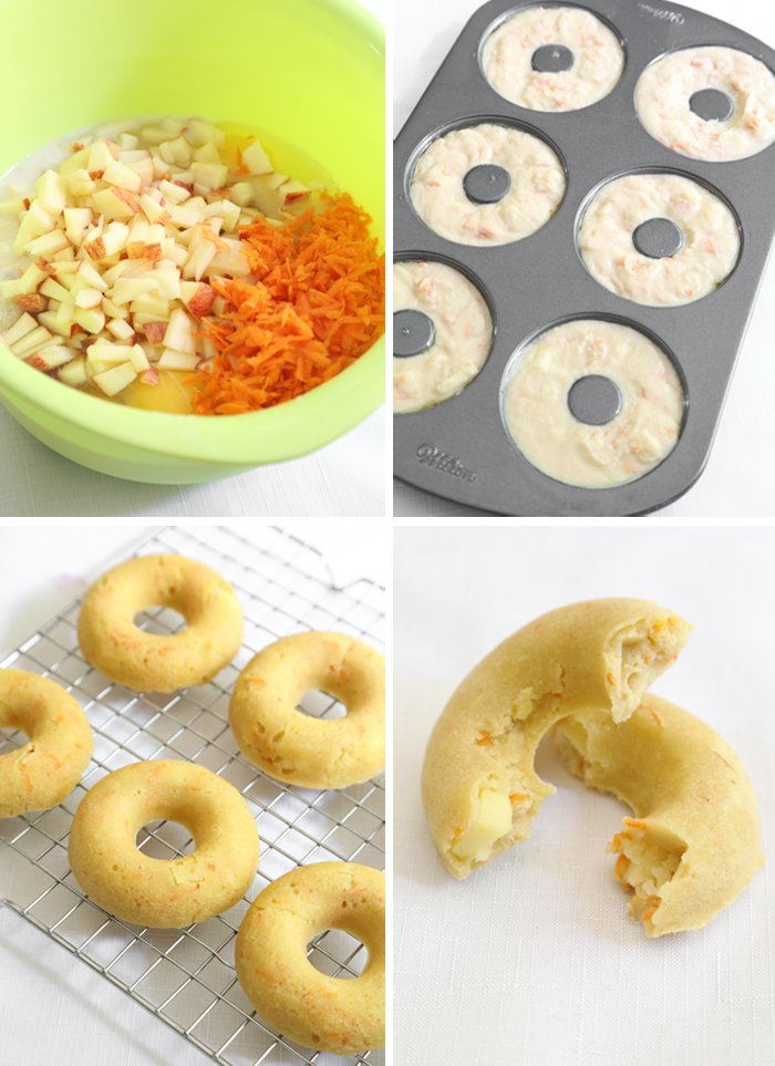 Carrot and Apple Doggie Doughnuts