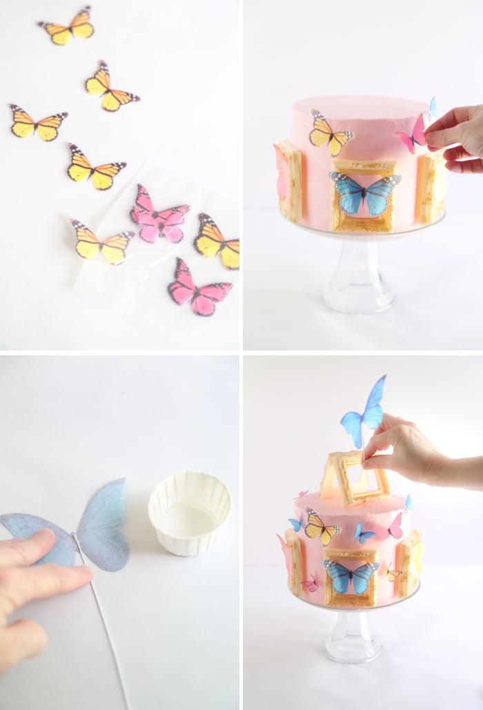 Butterfly Gallery Cake (Pink Lemonade Confetti Cake)