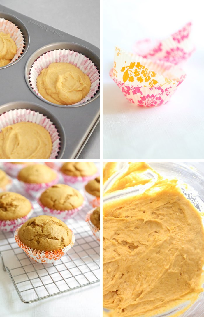 Sour Cream Pumpkin Muffins with Coffee Glaze