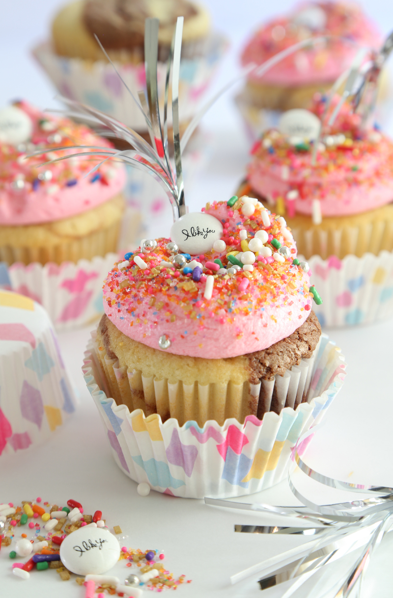 Neapolitan Marbled Cupcakes