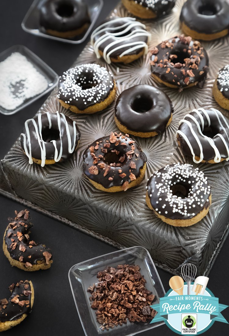 Chocolate-Glazed Coconut Flour Doughnuts