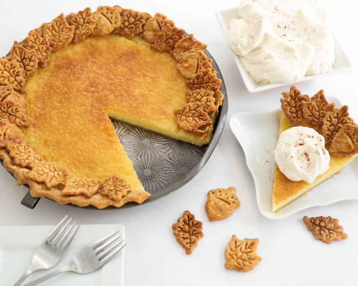 Buttermilk Pie with Bourbon Whipped Cream