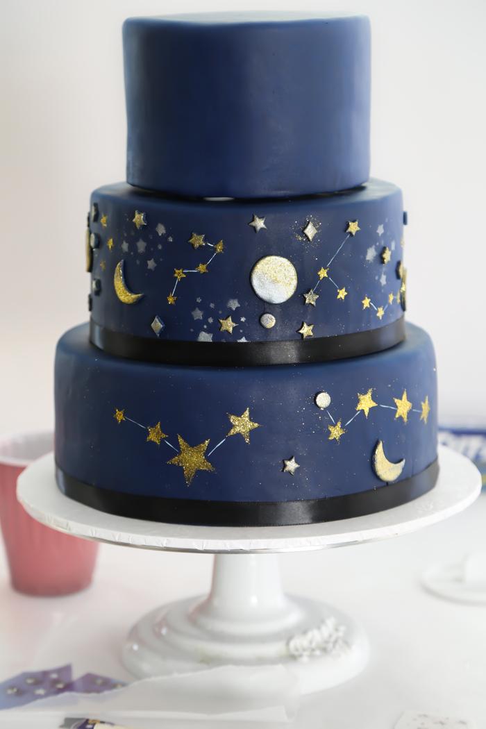 Celestial Sweet Sixteen Cake