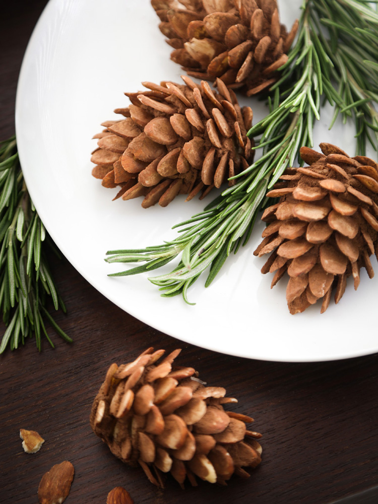 Elegant Almond Pinecones for the Holiday Table