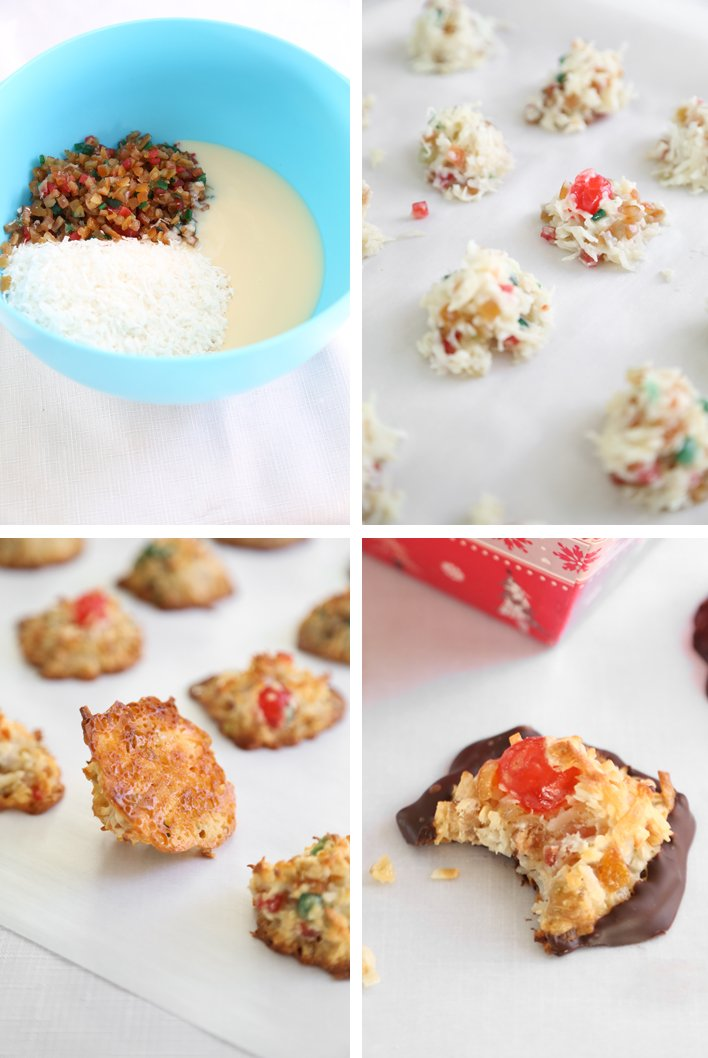 Candied Fruit Coconut Macaroons