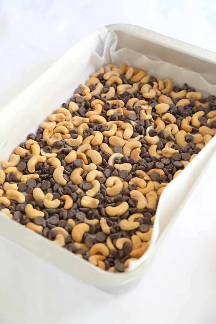 Chocolate Chip Cashew Caramels