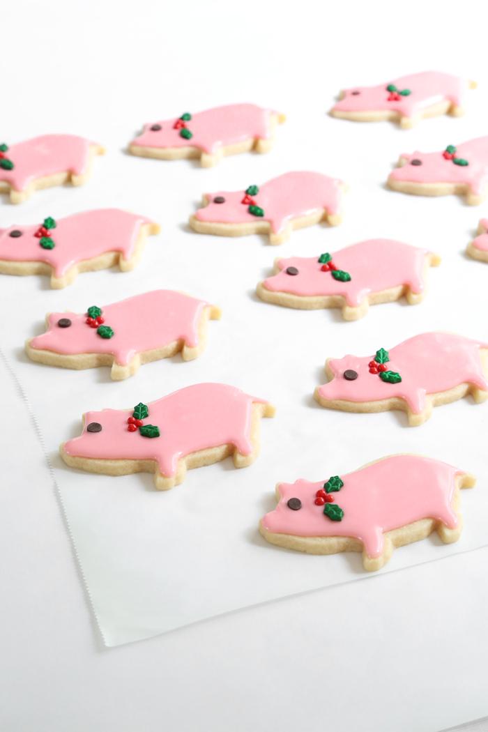 Lucky Peppermint Pig Cookies