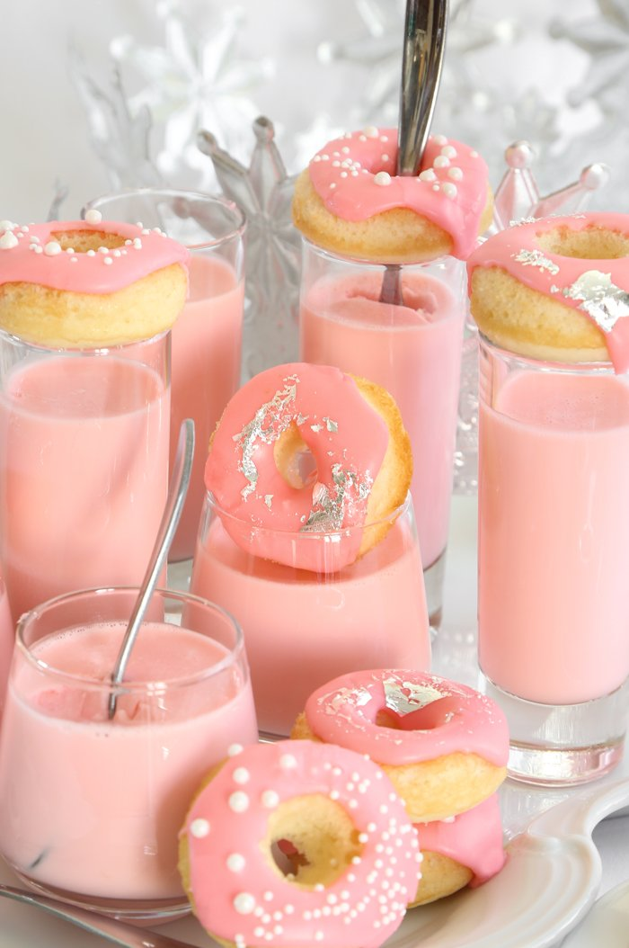Pink Champagne Donut and Panna Cotta Shots Recipe