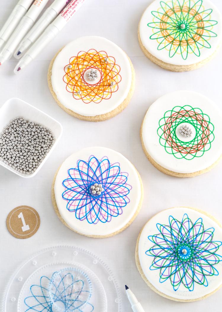 Spirograph Sugar Cookies