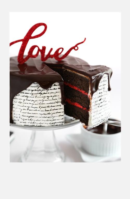 Love Letter Cake (Classic Tuxedo Cake)