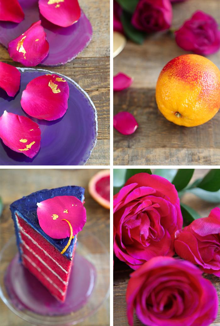 Blood Orange Winter Watercolor Cake