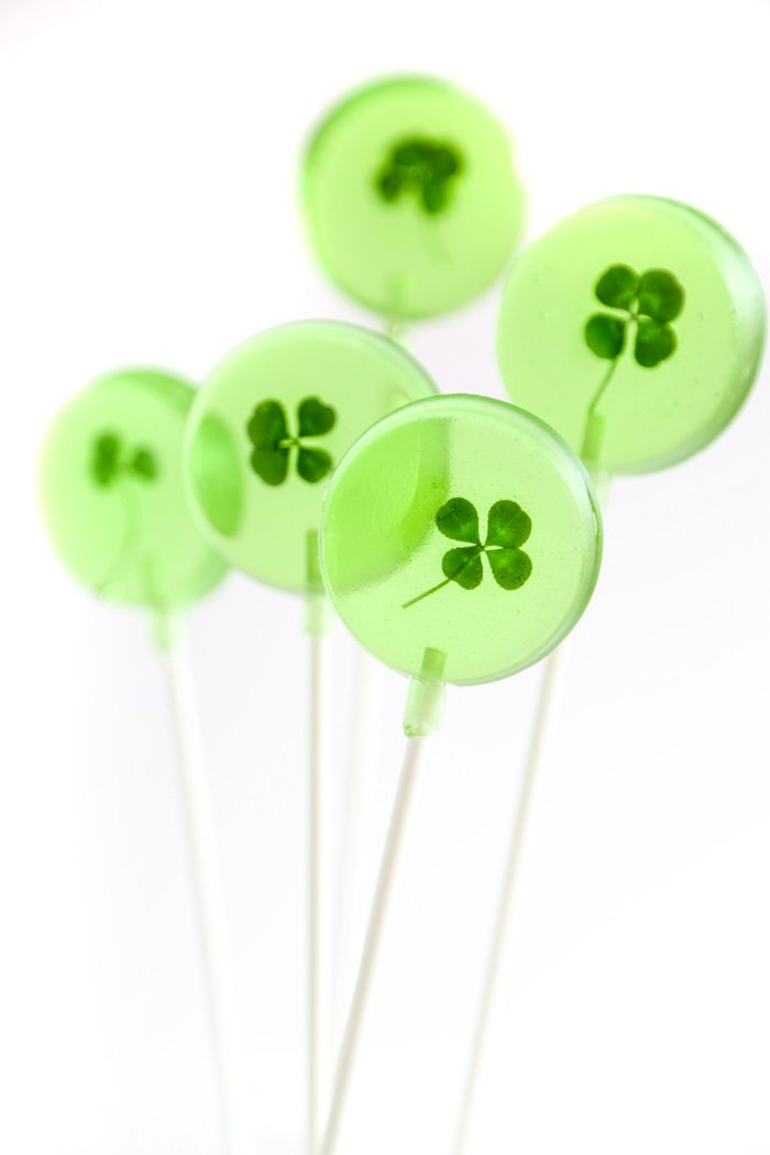 Lucky Four Leaf Clover Lollipops