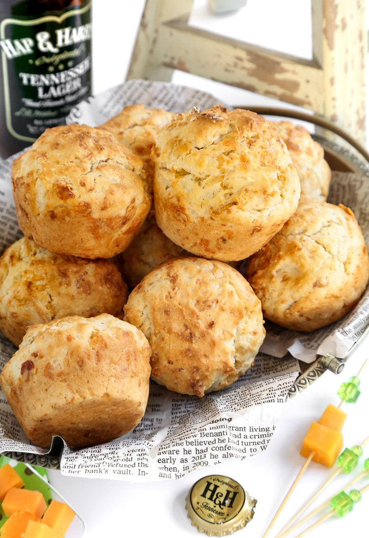 Bacon Smoked Gouda Beer Bread Muffins