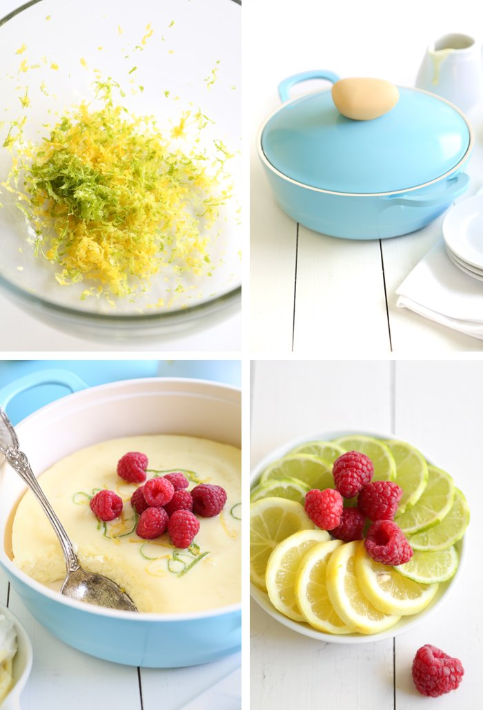 Baked Lemon-Lime Pudding