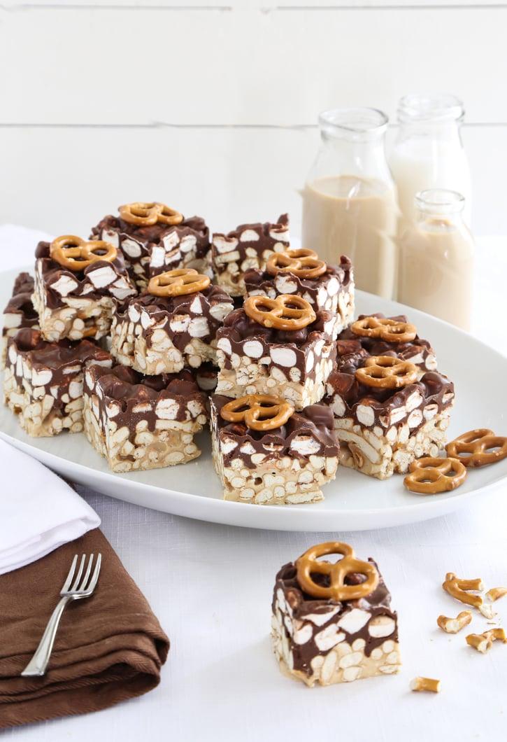 Salty Sweet Peanut Butter Marshmallow Pretzel Treats